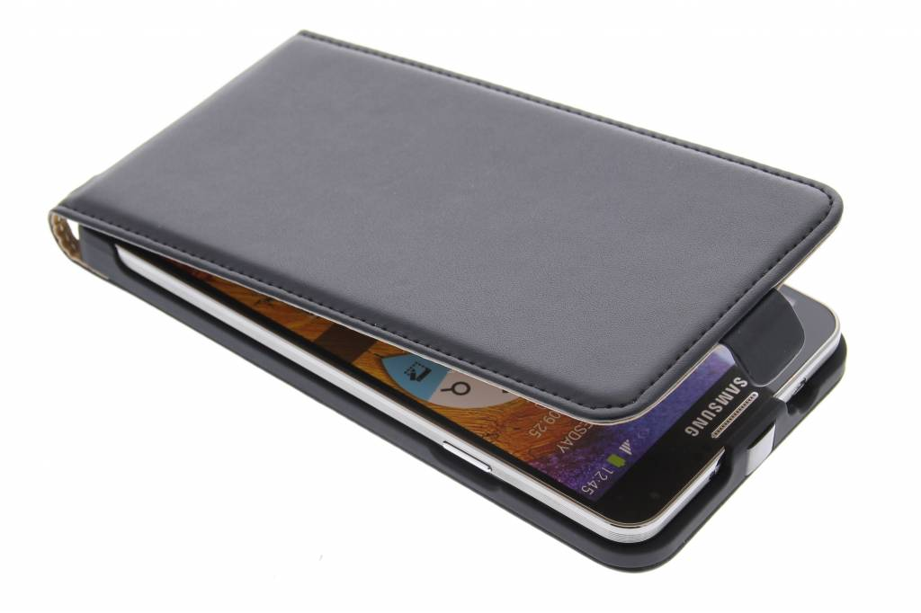Zwart luxe flipcase voor de Samsung Galaxy Note 3