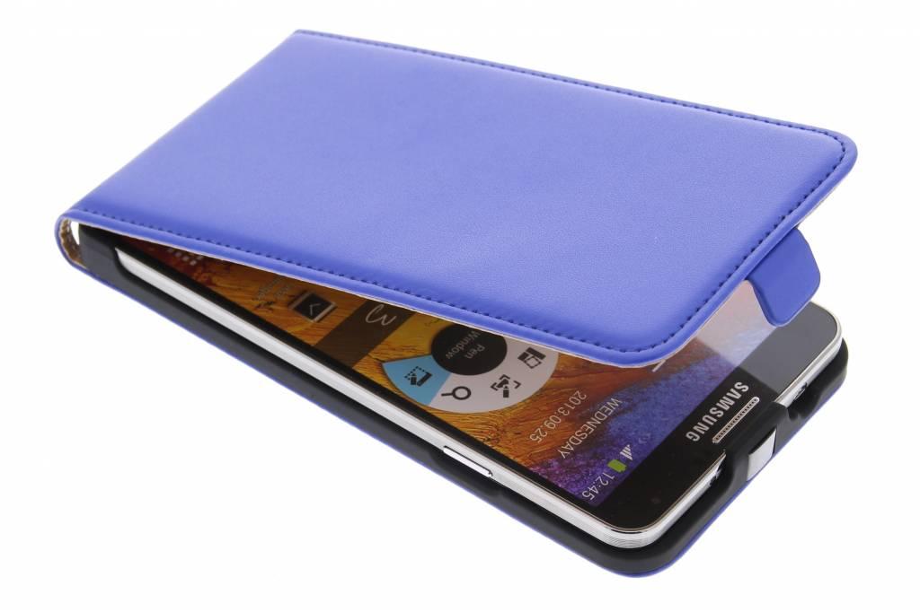 Blauw luxe flipcase voor de Samsung Galaxy Note 3