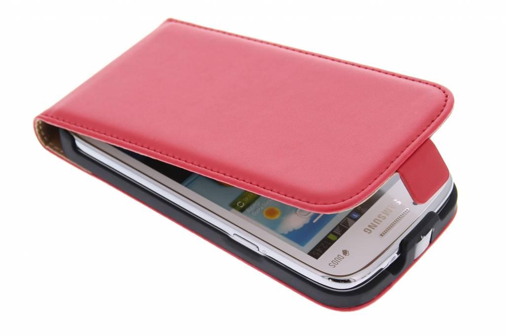 Rood luxe flipcase voor Samsung Galaxy Core