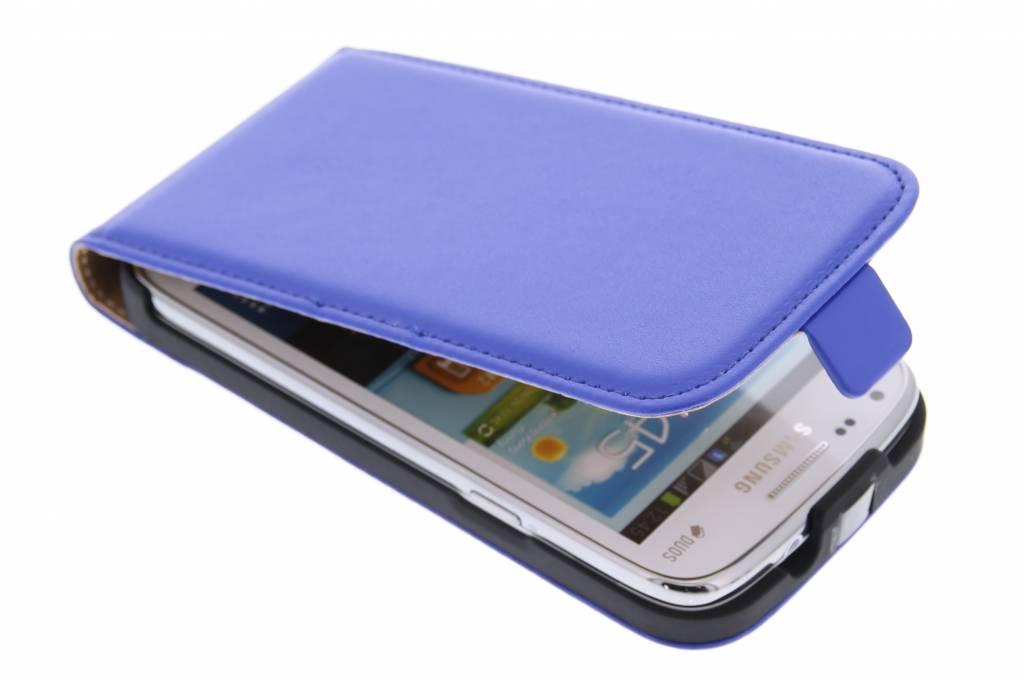 Blauw luxe flipcase voor Samsung Galaxy Core