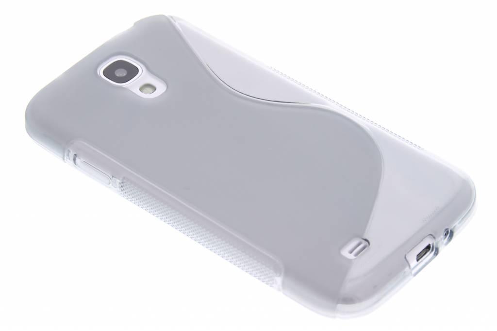 Grijs transparant S-line flexibel TPU hoesje voor Samsung Galaxy S4 i9500