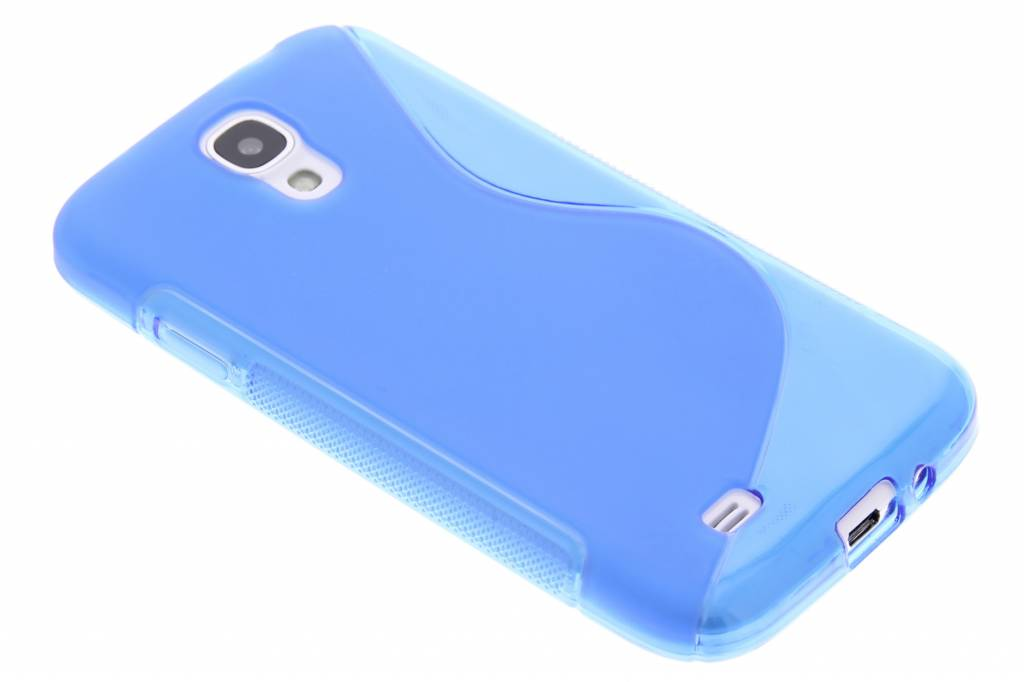 Blauw transparant S-line flexibel TPU hoesje voor Samsung Galaxy S4 i9500