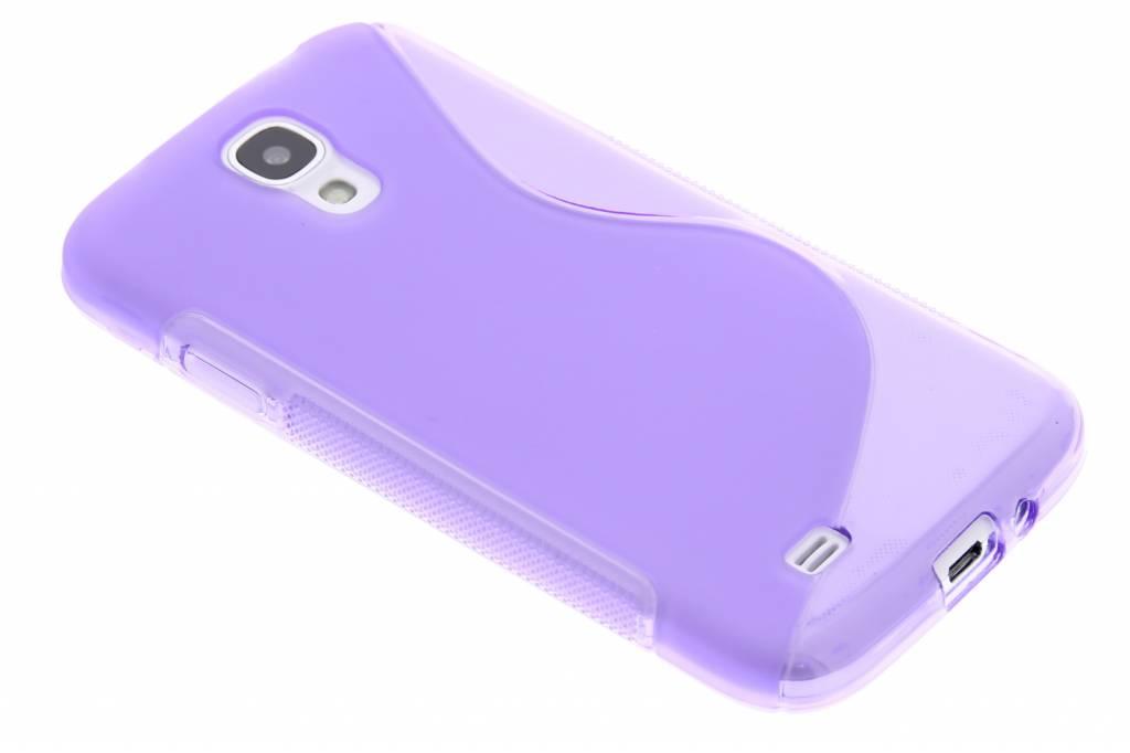 Paars transparant S-line flexibel TPU hoesje voor Samsung Galaxy S4 i9500