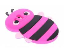 Fuchsia bijen design siliconen hoes Samsung Galaxy S3 Mini