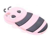 Roze bijen design siliconen hoes iPhone 5 / 5s / SE