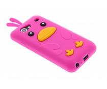 Fuchsia ducky siliconen hoesje Samsung Galaxy S Advance