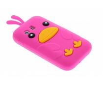 Fuchsia ducky siliconen hoesje Samsung Galaxy Y