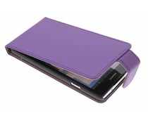 Paars classic flipcase Huawei Ascend G700