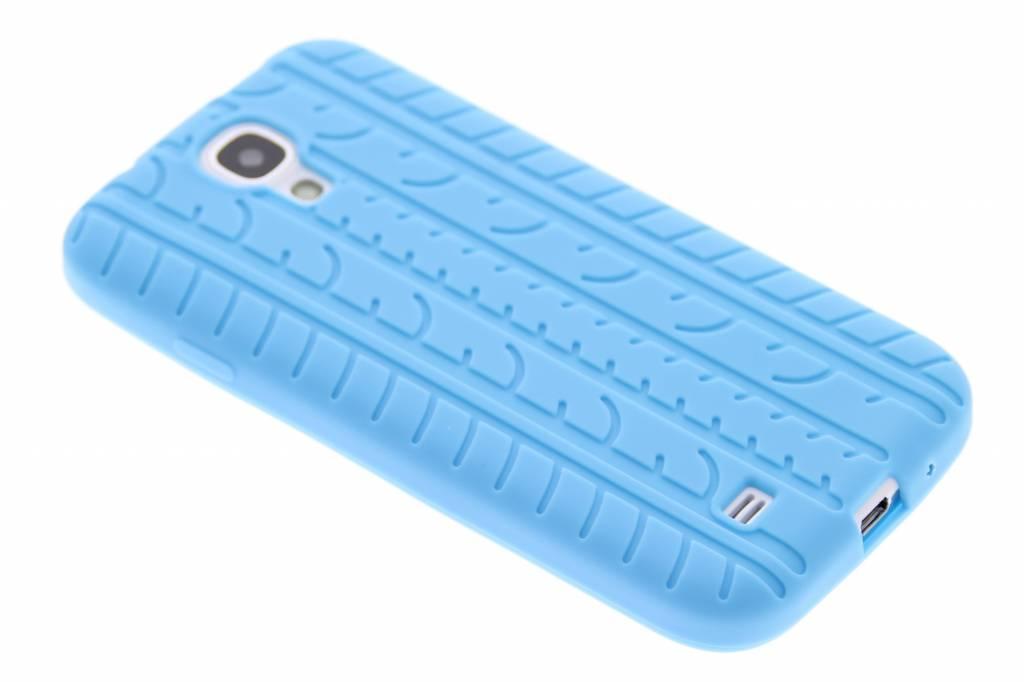 Turquoise autoband profiel siliconen hoesje voor de Samsung Galaxy S4