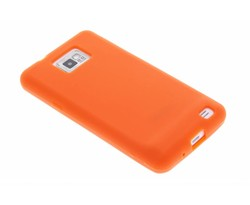 Oranje effen siliconen hoesje Samsung Galaxy S2 (Plus)
