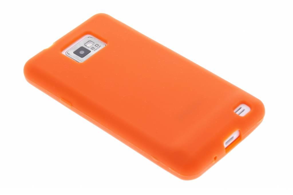 tui En Silicone Clair Orange Pour Samsung Galaxy S2 (plus) mSjAlj2