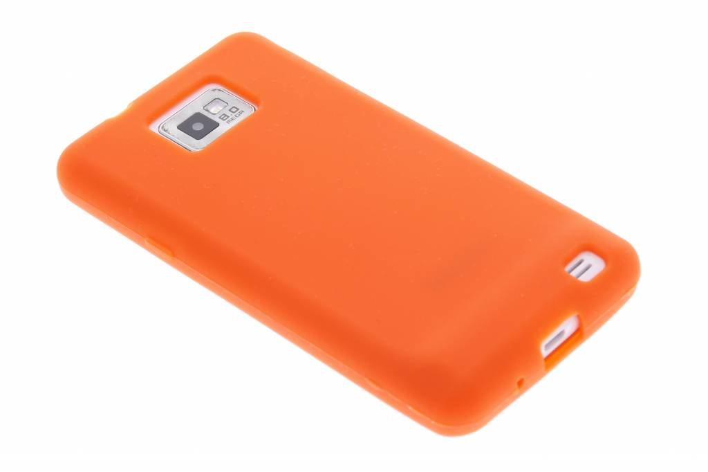Oranje effen siliconen hoesje voor Samsung Galaxy S2 (Plus)
