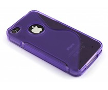 Paars S-line TPU hoesje iPhone 4(s)