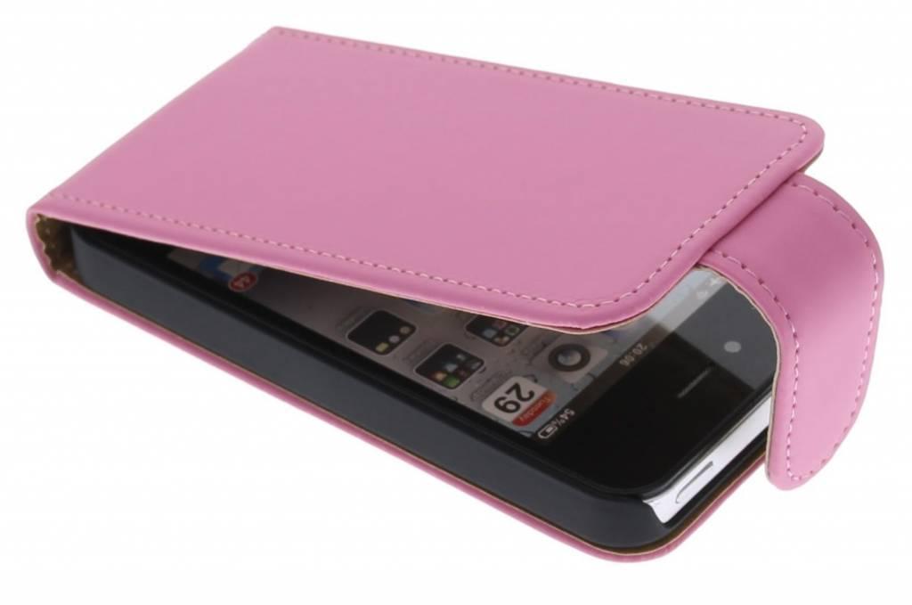 Roze classic flipcase voor iPhone 4 / 4s