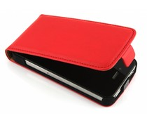 Rood luxe flipcase iPhone 4 / 4s