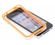 Oranje transparante bumper iPhone 4 / 4s