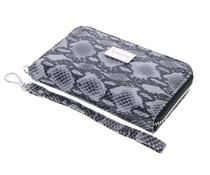 Valenta Leather Handbag Snake Grey