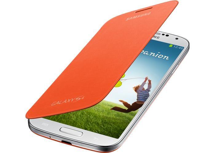 Galaxy S4 flipcover orange