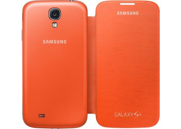 Couverture Flip Original Pour Galaxys4 - Orange Bydxi,