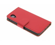 Rood effen booktype hoes LG Nexus 5