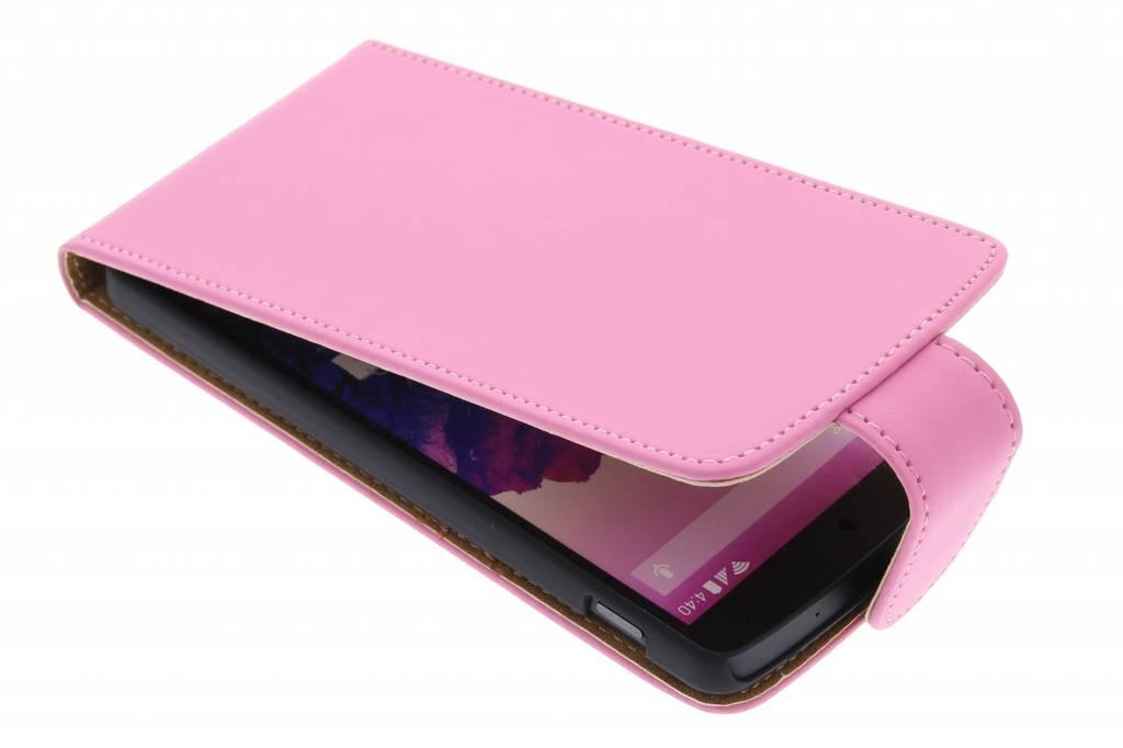 Roze classic flipcase hoesje voor de LG Nexus 5