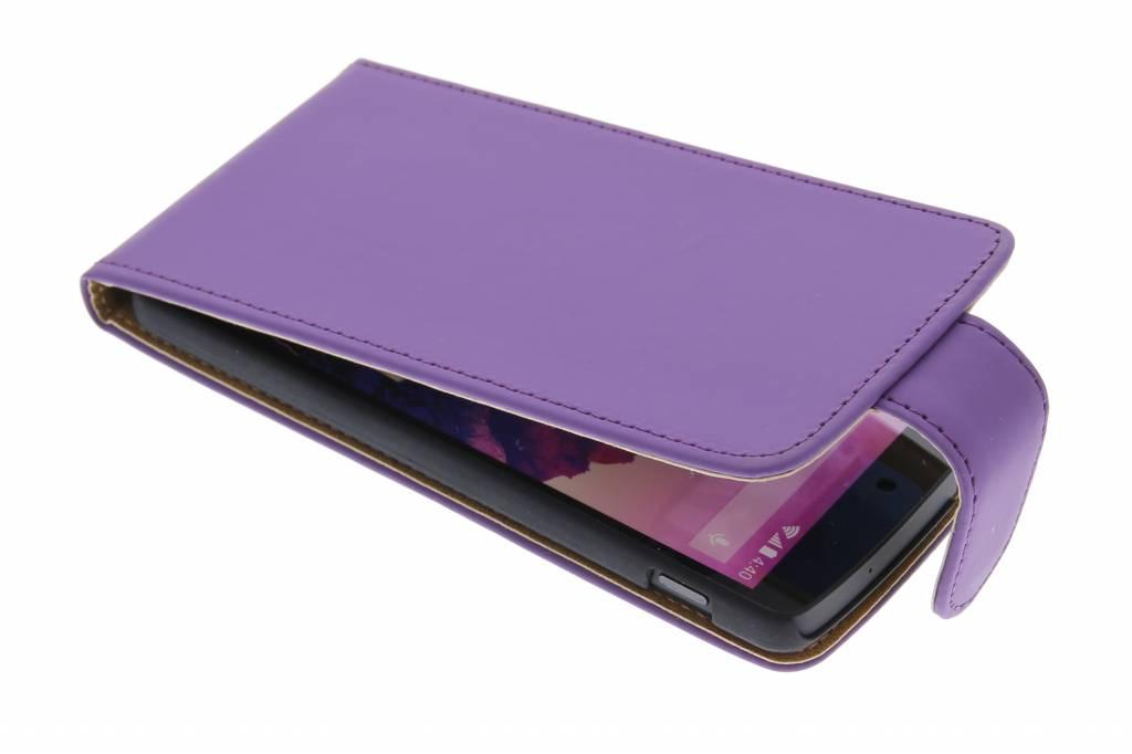 Paars classic flipcase hoesje voor de LG Nexus 5