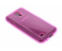 Fuchsia transparant gel case Samsung Galaxy S4 Mini