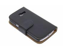 Zwart effen booktype Samsung Galaxy Trend Lite