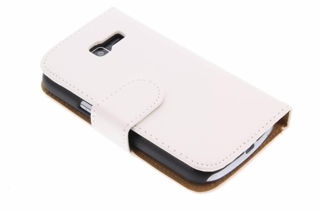 Effen booktype hoes voor de Samsung Galaxy Trend Lite