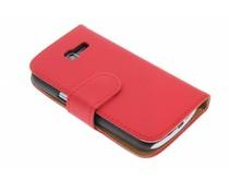 Rood effen booktype Samsung Galaxy Trend Lite