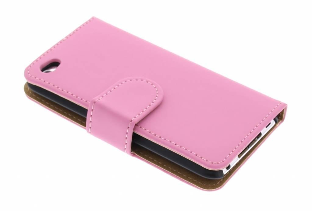 Roze effen booktype hoes voor de iPod Touch 4g
