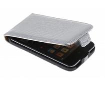 Zilveren krokodillen flipcase iPod touch 4G