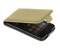 Gouden krokodillen flipcase iPod touch 4G