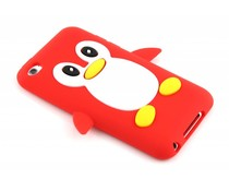 Rood pinguin siliconen hoesje iPod Touch 4g