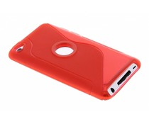 Rood TPU S-Line hoesje iPod Touch 4G