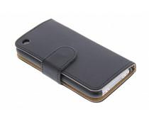 Zwart effen booktype hoes iPhone 3g(s)