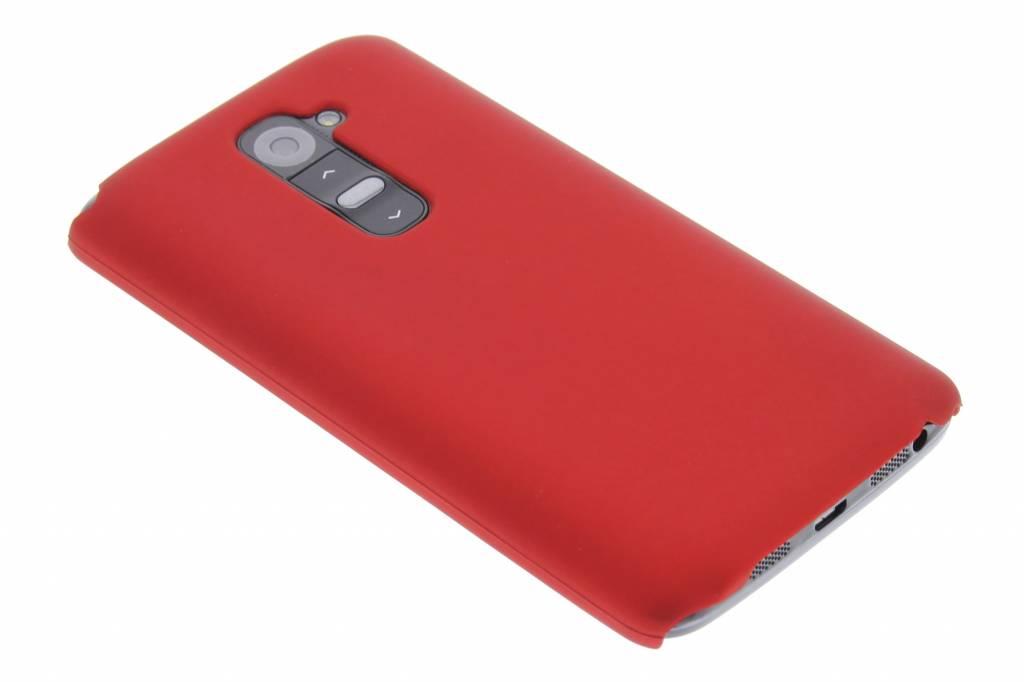 Rood effen hardcase hoesje voor de LG G2