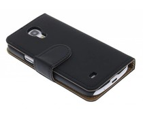 Zwart effen booktype hoes Samsung Galaxy S4 Mini
