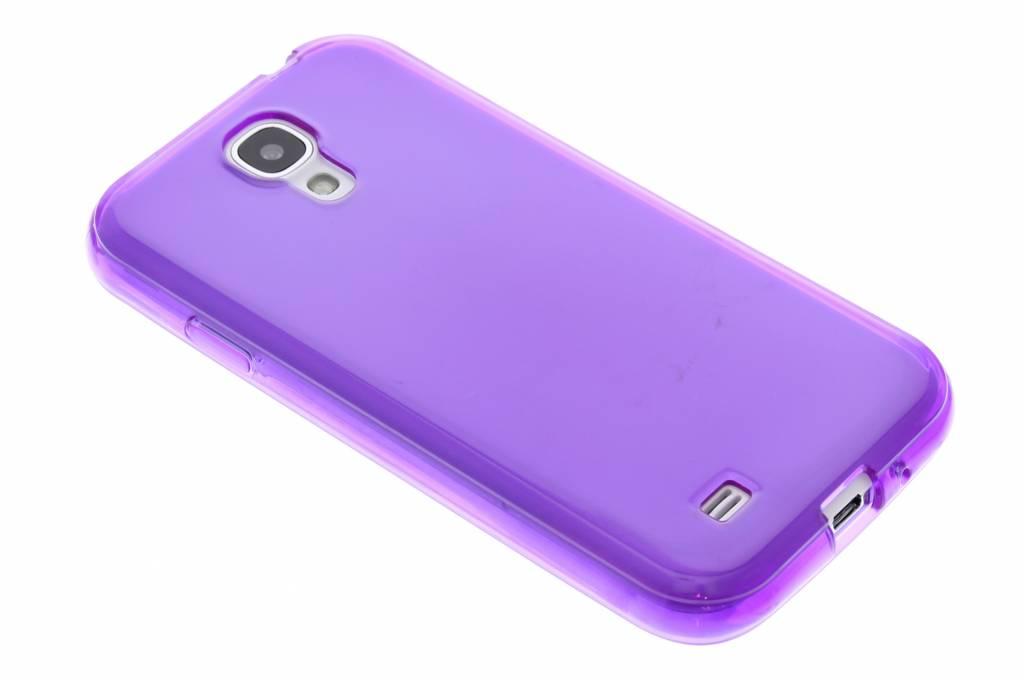 Paarse transparante gel case voor de Samsung Galaxy S4