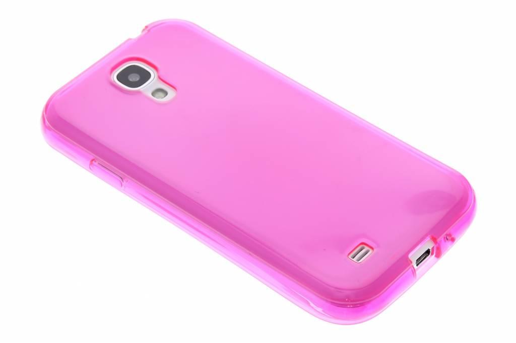 Fuchsia transparante gel case voor de Samsung Galaxy S4