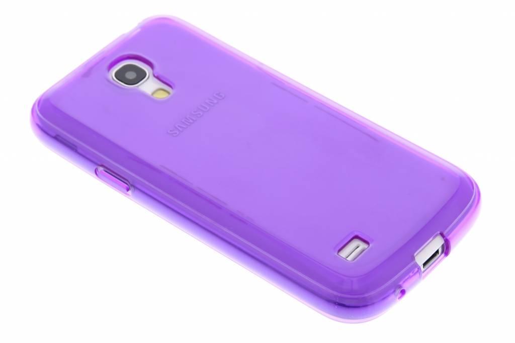 Paarse transparante gel case voor de Samsung Galaxy S4 Mini