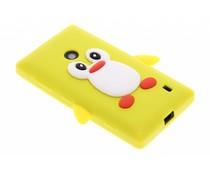Geel pinguin siliconen hoesje Nokia Lumia 520 / 525