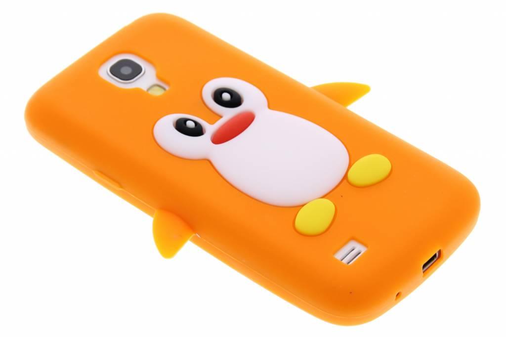 Oranje pinguin siliconen hoesje voor de Samsung Galaxy S4 Mini