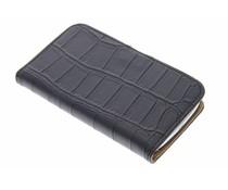 Zwart krokodil booktype hoesje Samsung Galaxy Core