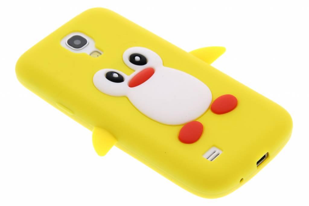 Gele pinguin siliconen hoesje voor de Samsung Galaxy S4 Mini
