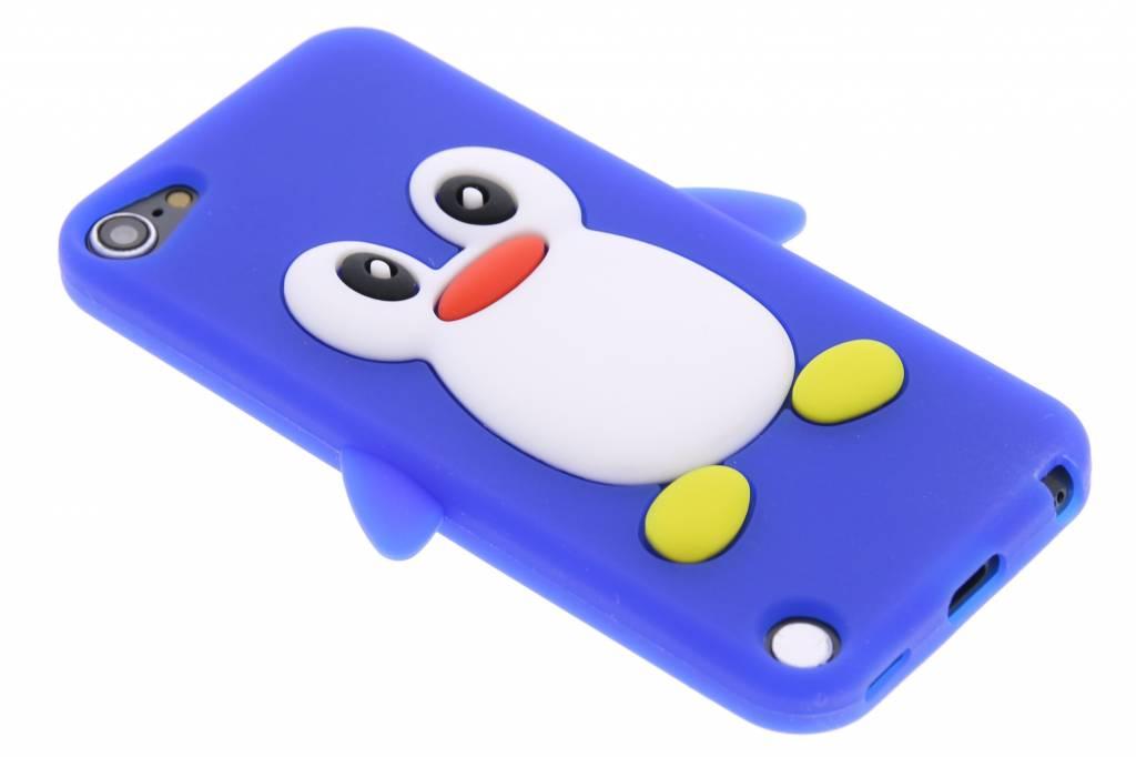 Blauwe pinguin siliconen hoesje voor de iPod Touch 5g / 6