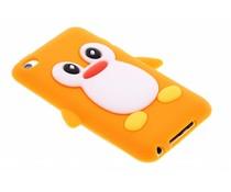 Oranje pinguin siliconen hoesje iPod Touch 4g