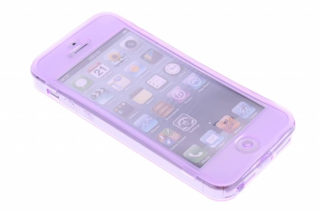 Transparant siliconen booktype hoesje voor de iPhone 5 / 5s / SE