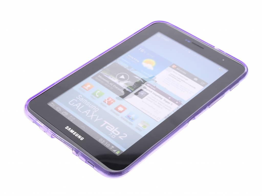 Couverture De La Tablette Tpu Violet Ligne X Pour Samsung Galaxy Tab 2 7,0