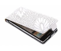 Glazen strass flipcase Huawei Ascend P6 / P6s
